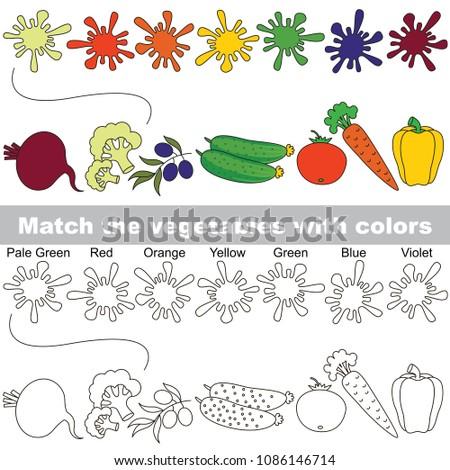 vegetables rainbow set to find