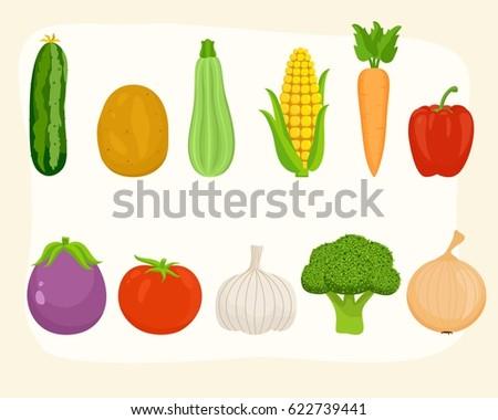 Vegetables Set #622739441