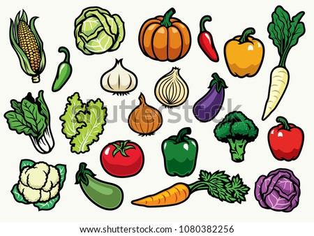 vegetables set collection #1080382256