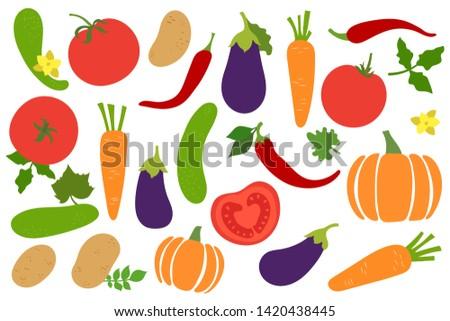 vegetables set potato