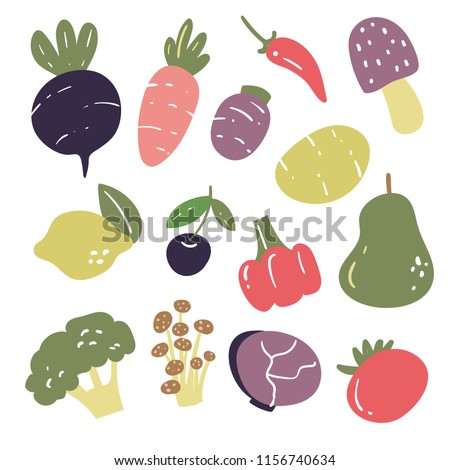vegetables vector collection design