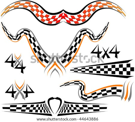 Vector Auto Racing Graphics on 10eps Racing Set Vector Signs Race Flag Find Similar Images