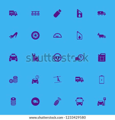 vehicle icon. vehicle vector icons set school bus, car repair, steering wheel and taxi cab
