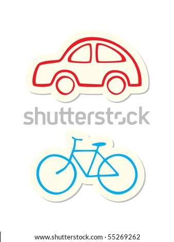 Vehicle Icons - stock vector