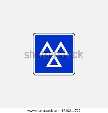 Vehicle testing station sign icon. Traffic signs symbol modern, simple, vector, icon for website design, mobile app, ui. Vector Illustration Photo stock ©