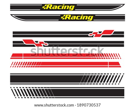 Vehicle vector Decal Stripes for the both parts, racing stripes for tuning cars Stock photo ©
