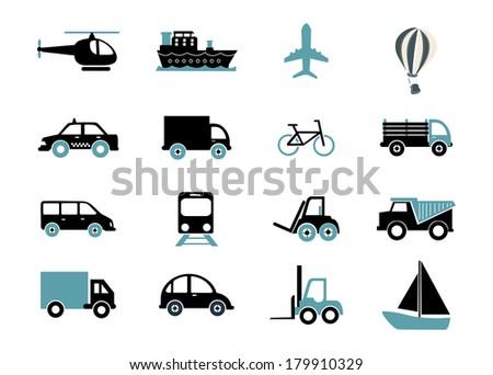 vehicles design over white