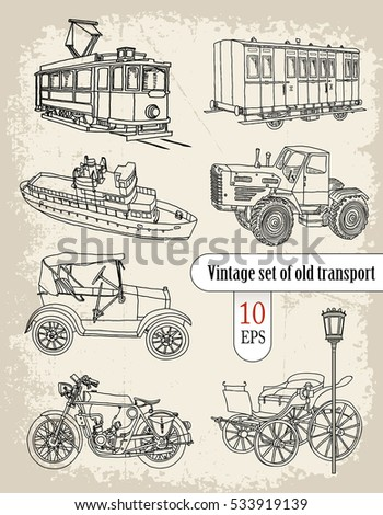 vehicles  vintage set