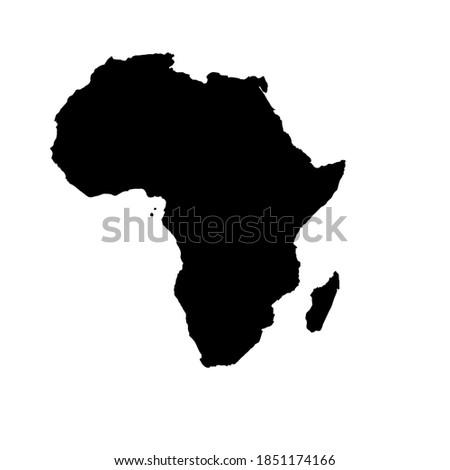 vektor desain siluet hitam benua Afrika Stock foto ©