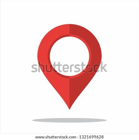 Vektor map pointer icon. GPS location symbol. Flat design style. Set