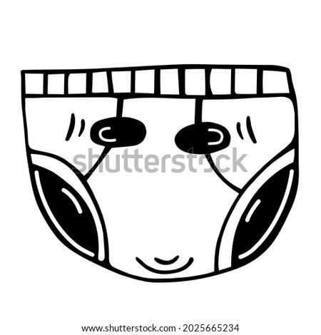 velcro diapers vector icon