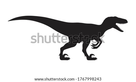 Velociraptor silhouette icon sign, Raptor dinosaurs symbol design,  Isolated on white background, Vector illustration Stockfoto ©