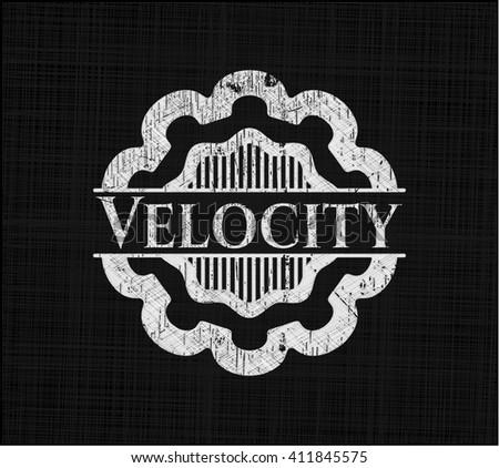 Velocity chalkboard emblem