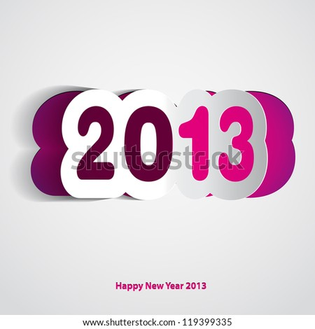 Velvet Happy New Year 2013 vector card