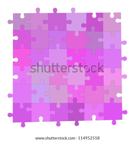 Velvet simple puzzle background, Vector image