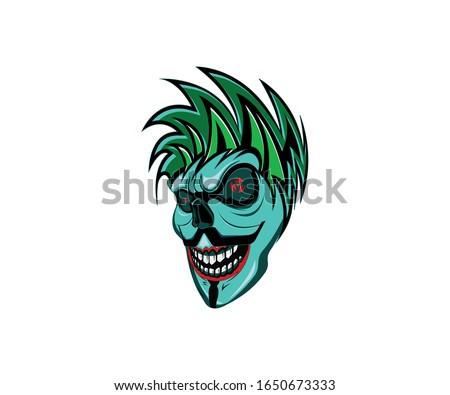 vendetta joker skull designs on