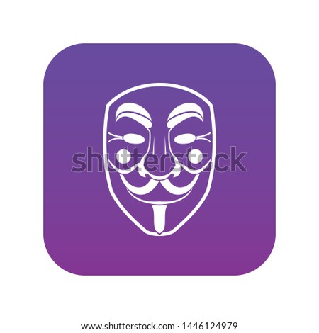 vendetta mask icon digital