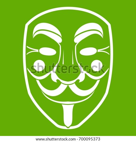 vendetta mask icon white