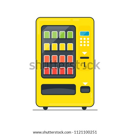 Vending Machine filled outline icon. Vending clipart isolated on white background