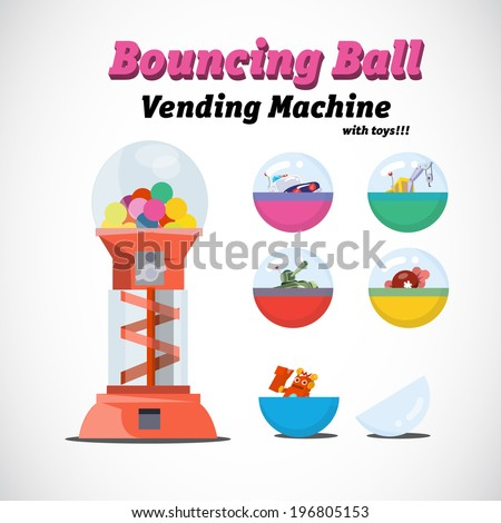 vending machine toys   vector