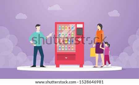 vending machine with food drink