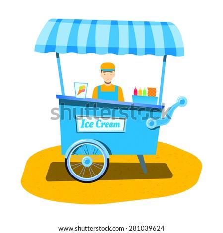vendor ice cream. ice cream...