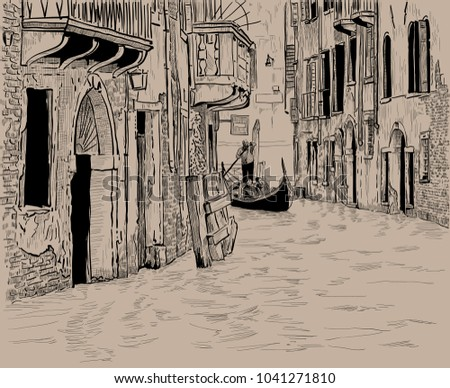 venetian canal and unique