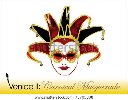 Venetian carnival mask, joker