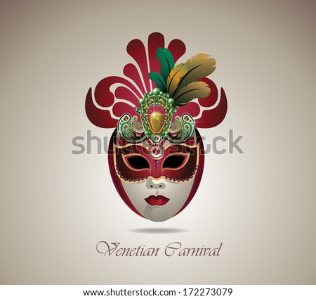 venetian carnival mask with