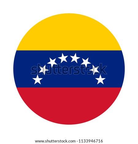 Venezuela Flag Button Stockfoto ©