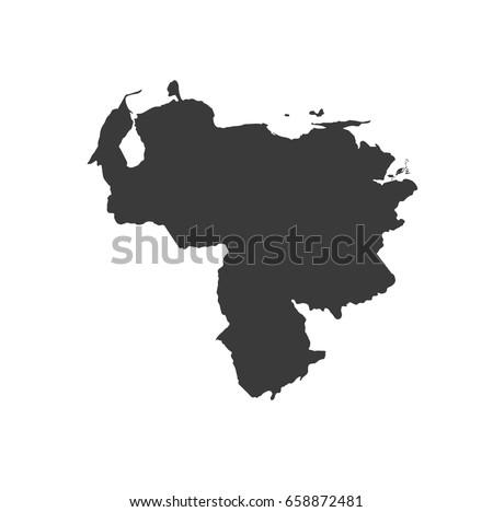 Venezuela map vector. / Venezuela map. Stockfoto ©