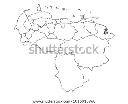Venezuela map vector free vector art at vecteezy venezuela outline map detailed isolated vector country border contour map on white background gumiabroncs Choice Image