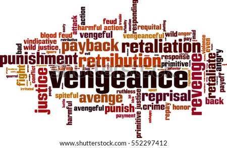 vengeance word cloud concept