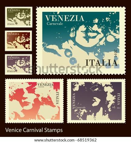 Venice Carnival stamps