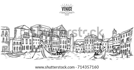 venice cityscape with houses