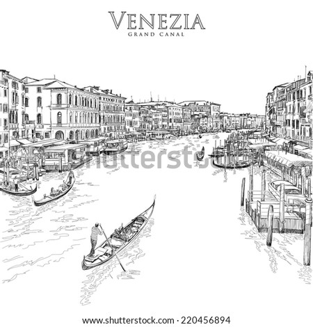 venice   grand canal the view