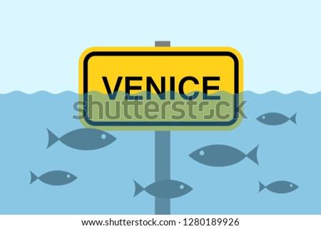 venice is sinking under water