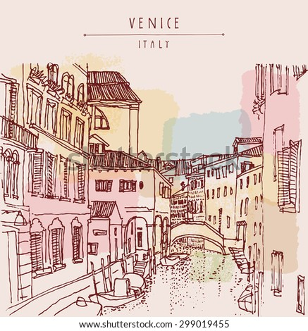 venice  italy  europe vector