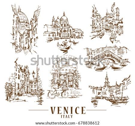 venice vector illustration made