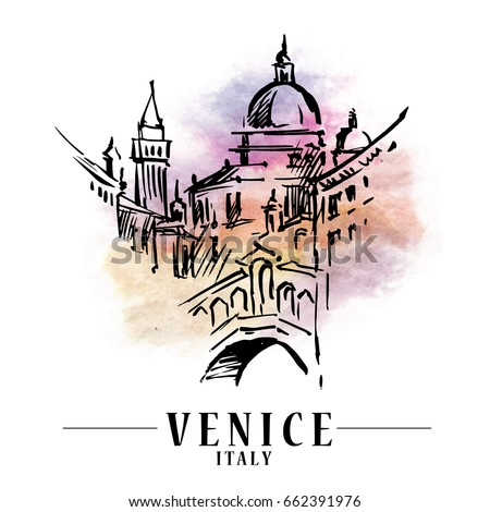 venice vector illustration made