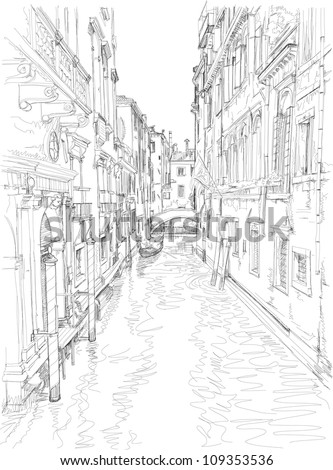 venice   water canal  old...