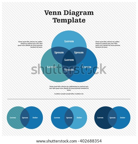 Venn Diagram Template Design ストックフォト ©