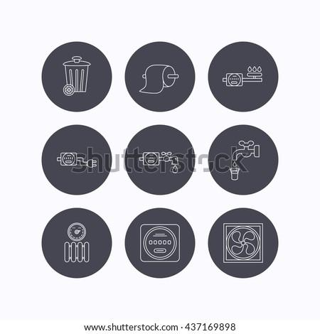 ventilation  radiator and water