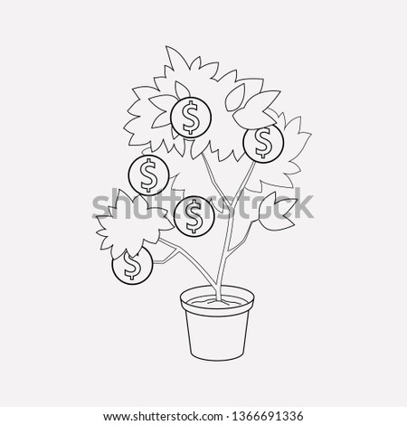 Venture capital icon line element. Vector illustration of venture capital icon line isolated on clean background for your web mobile app logo design.