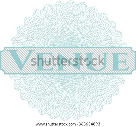 Venue abstract rosette