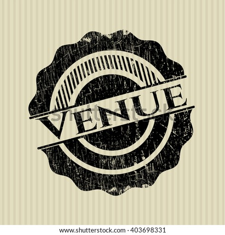 Venue rubber stamp with grunge texture