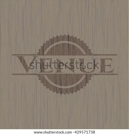 Venue vintage wood emblem