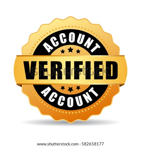 Verified account business vector icon on white background