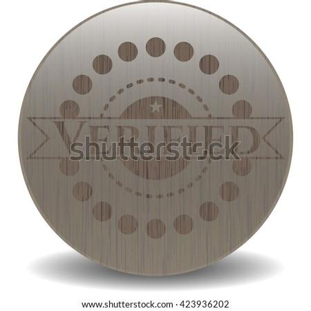 Verified wooden emblem. Retro