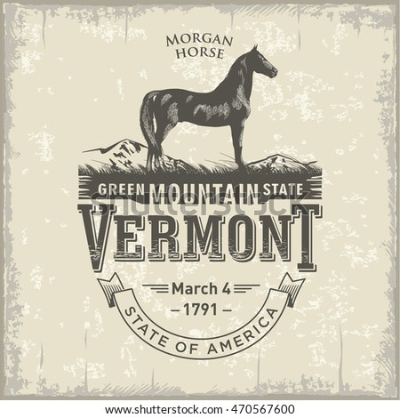 vermont  stylized emblem of the